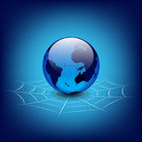Globe dans le Web Image libre de droits