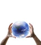 Globe dans les mains Image libre de droits