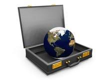 Globe dans une serviette Photo libre de droits
