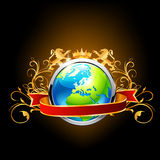 Globe on dark background. Royalty Free Stock Image