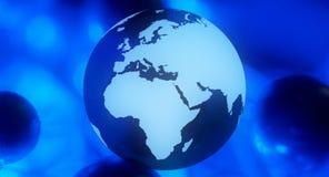 Globe dark blue business background Royalty Free Stock Photos