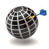 Globe and dart royalty free illustration
