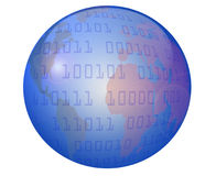 Globe and Data Stock Photos