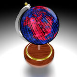 Globe with datastream map Stock Images