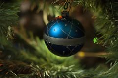 Globe de blanc de Noël photos libres de droits
