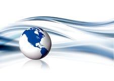 globe de bleu de fond Image libre de droits