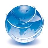 Globe de bleu du monde Photos libres de droits