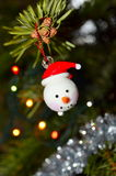 Globe de bonhomme de neige Photo stock