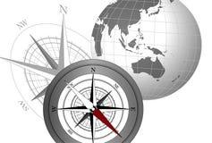 globe de compas illustration stock