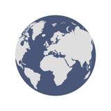 Globe de deux couleurs Images libres de droits