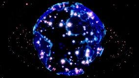 Globe de donn?es de la terre de Digital - r?sum? 3D rendant la connexion r?seau de starlink de satellites le monde les satellites illustration de vecteur