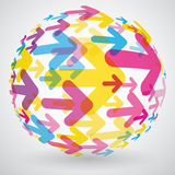 Globe de flèche illustration libre de droits