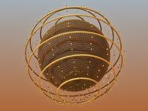 Globe de fractale Images stock