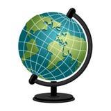 Globe de géographie d'école de la terre Modèle de sphère de planète astronomique illustration stock