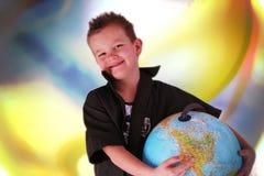 globe de garçon Photo stock