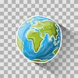Globe de griffonnage Photos libres de droits