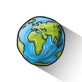 Globe de griffonnage Photo libre de droits