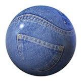 Globe de jeans Photo libre de droits
