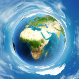 Globe de jour de l'atmosphère du monde Photo libre de droits