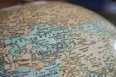 Globe de Kazakhstan Photographie stock libre de droits