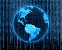 Globe de l'électronique Photo stock