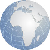 globe de l'Afrique Photo stock