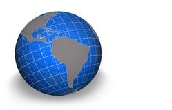 globe de l'Amérique du sud illustration stock