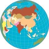 Globe de l'Asie. Image stock