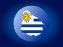 Globe de l'Uruguay illustration stock
