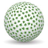globe de la marijuana 3d Photo stock