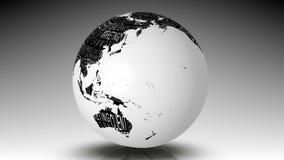 Globe de la rotation de mots d'affaires illustration libre de droits