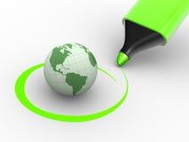 Globe de la terre Photos libres de droits