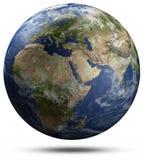 Globe de la terre - Afrique, l'Europe et Asie illustration de vecteur