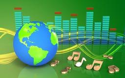 globe de la terre de globe de la terre 3d Photographie stock