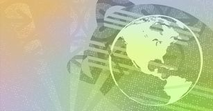globe de la terre de fond Images stock