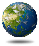 Globe de la terre de l'Asie Photos libres de droits