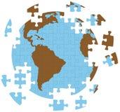 Globe de la terre de puzzle denteux Photo stock