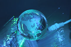 Globe de la terre de technologie photographie stock