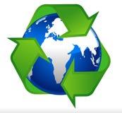 Globe de la terre réutilisant le symbole Illustration de Vecteur