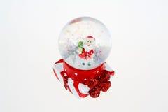 Globe de neige avec Santa pour Noël Photographie stock