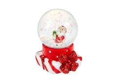 Globe de neige avec Santa pour Noël Images libres de droits