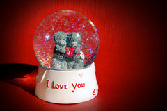 Globe de neige d'amour Photo stock