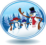 Globe de neige de bonhomme de neige de Noël Photos stock
