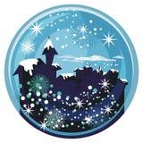Globe de neige de l'hiver Images stock