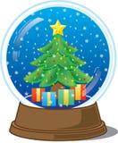 Globe de neige de Noël Photos libres de droits