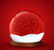 Globe de neige de Noël Photographie stock libre de droits