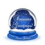 Globe de neige de salutations de saisons Photos libres de droits