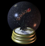 Globe de neige de Santa de vol Photos stock