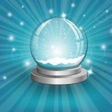 Globe de neige sur le fond. Vecteur Photographie stock libre de droits