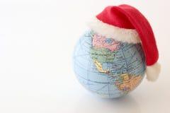 Globe de Noël - du nord et sud Amériques Photographie stock